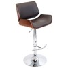 Santi Contemporary Bar Stool - Cherry Wood, Brown - LMS-BS-JY-SNT-CH-BN