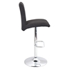 Tintori Height Adjustable Barstool - Swivel, Charcoal - LMS-BS-JY-TNT-CHAR