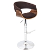 Vintage Mod Height Adjustable Barstool - Swivel, Walnut, Espresso - LMS-BS-JY-VMO-WL-E