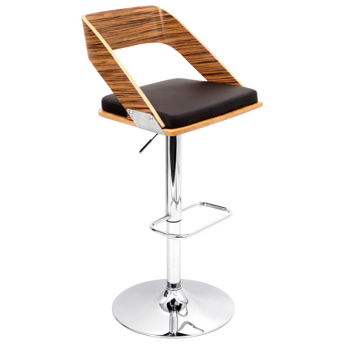 Vuno Zebrano Bar Stool with Brown Seat DCG Stores : bs jy vn zb bn from www.dcgstores.com size 700 x 700 jpeg 46kB