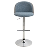 Luna Height Adjustable Barstool - Swivel, Blue - LMS-BS-LUNA-WL-BU