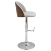 Luna Height Adjustable Barstool - Swivel, White - LMS-BS-LUNA-WL-W
