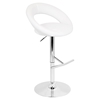 Fortune Height Adjustable Barstool - Swivel, White - LMS-BS-QS-FORT-W