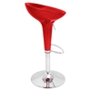 Scooper Height Adjustable Barstool - Swivel, Red - LMS-BS-SCOOPTW-R