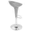 Scooper Height Adjustable Barstool - Swivel, Silver - LMS-BS-SCOOPTW-SV