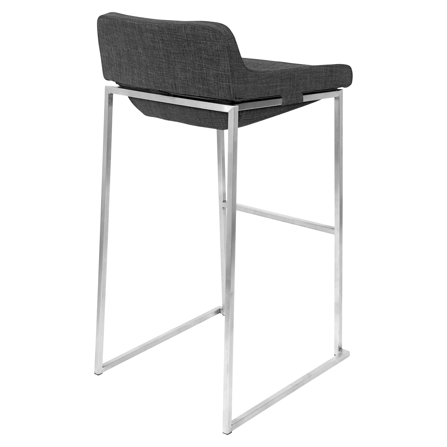 Satori Stackable Barstool - Charcoal (Set of 2) - LMS-BS-STR-CHAR2