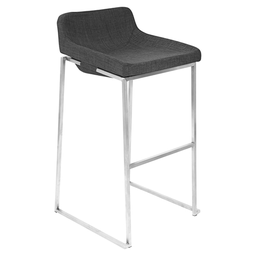 Satori Stackable Barstool Charcoal Set Of 2 Dcg Stores