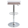 Swerve Adjustable Barstool - Clear, Walnut - LMS-BS-SWRV-CL-WL