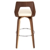 Trilogy Barstool - Walnut, Cream - LMS-BS-TRILO-WL