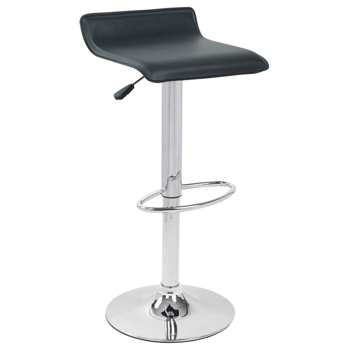 Ale Adjustable Height Bar Stool - Black Seat - LMS-BS-TW-ALE-BK