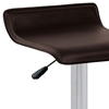 Ale Modern Adjustable Height Bar Stool - Brown Seat - LMS-BS-TW-ALE-BN