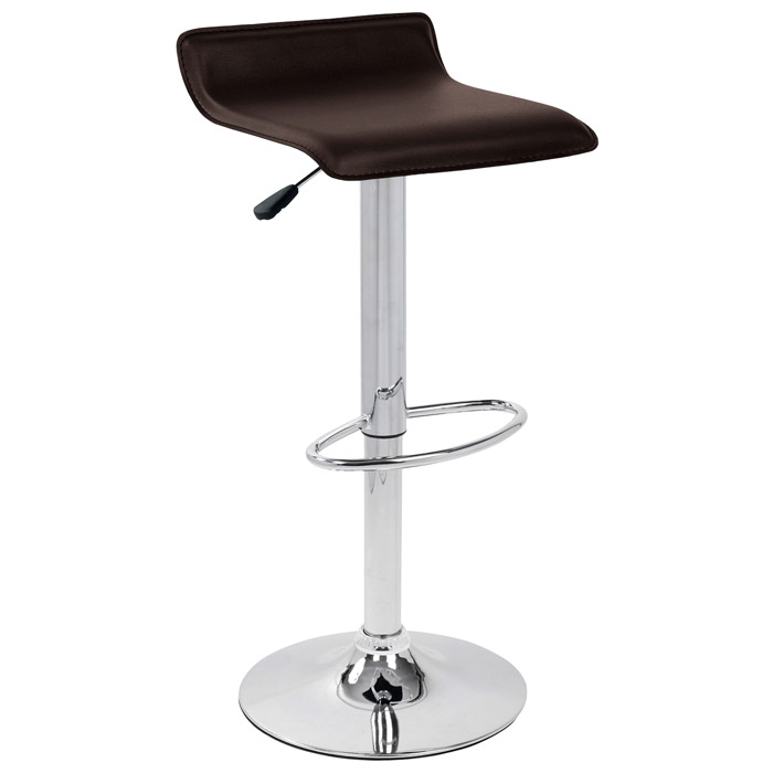 Ale Modern Adjustable Height Bar Stool Brown Seat Dcg Stores
