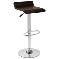 Ale Modern Adjustable Height Bar Stool - Brown Seat