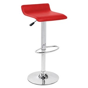 Ale Modern Adjustable Bar Stool - Red Seat