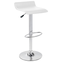Ale Modern Adjustable Bar Stool - White Seat