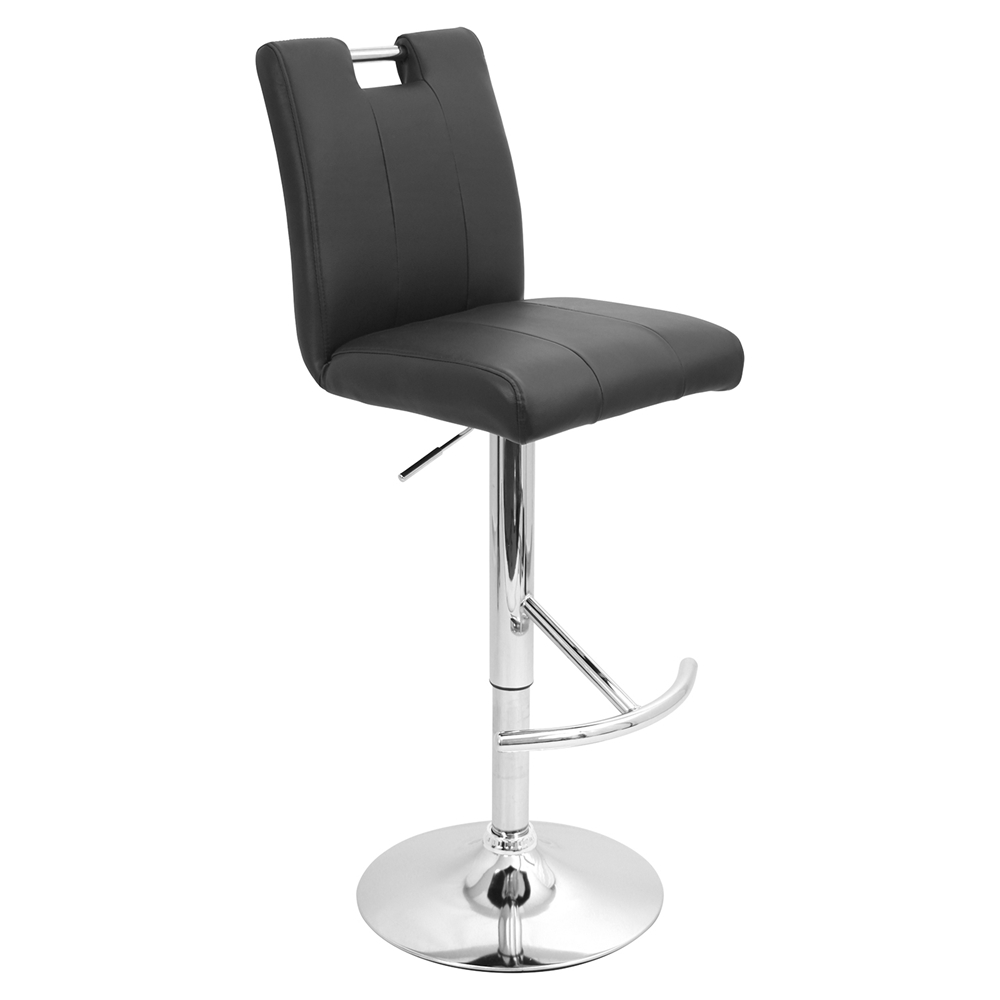Bar Height Adjustable Barstool Swivel Black Dcg Stores