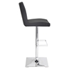 Captain Height Adjustable Barstool - Swivel, Black - LMS-BS-TW-CAPTN-BK
