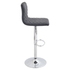 Caviar Height Adjustable Barstool - Swivel, Gray - LMS-BS-TW-CAV-GY
