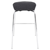 Fabric Stacker Stackable Barstool - Charcoal (Set of 3) - LMS-BS-TW-FSTK-CHA3