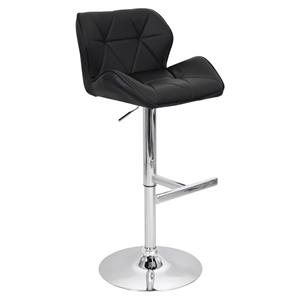 Jubilee Height Adjustable Barstool - Swivel, Black