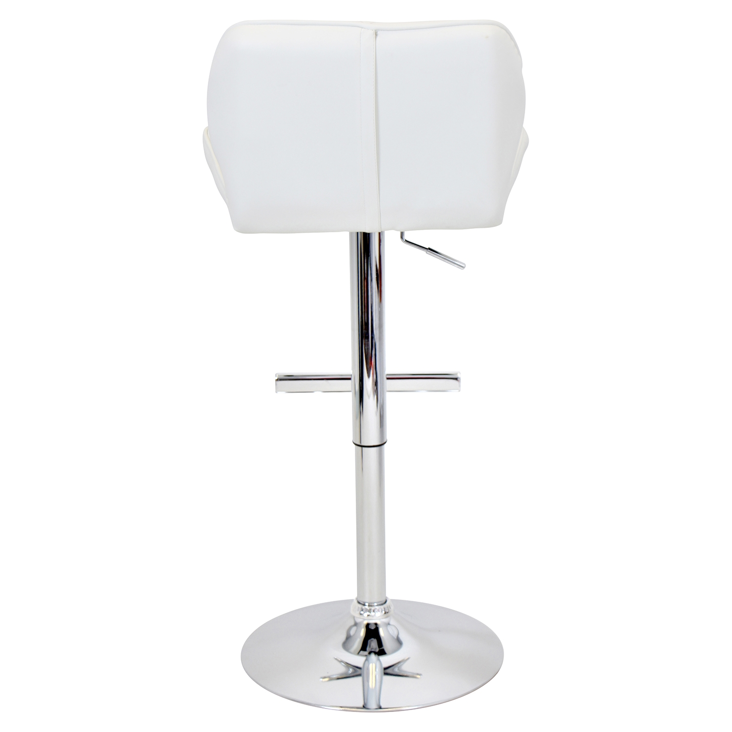 Jubilee Height Adjustable Barstool - Swivel, White - LMS-BS-TW-JUBL-W
