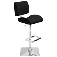 Locust Black Adjustable Height Swivel Bar Stool