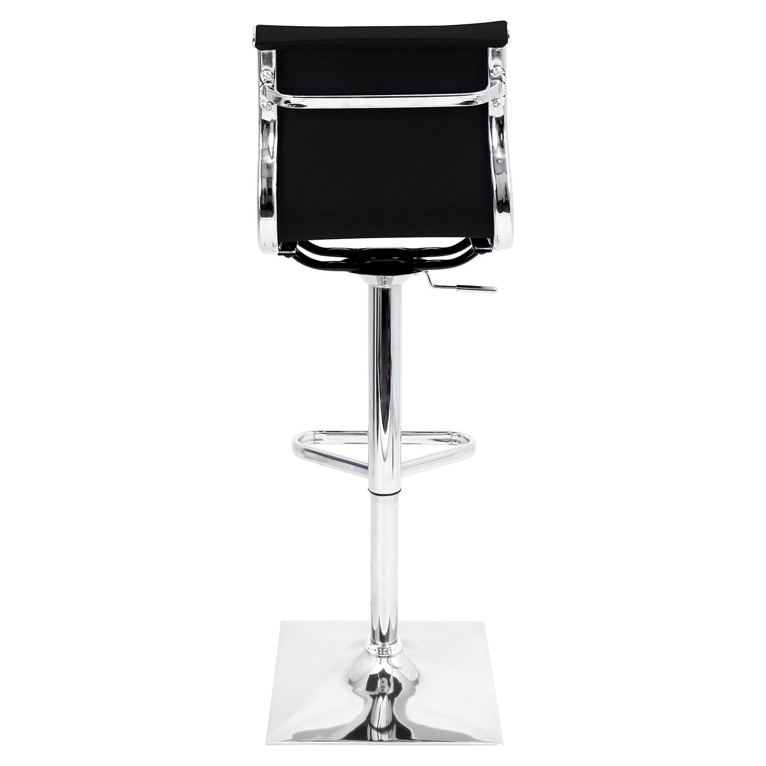 Master Height Adjustable Barstool - Swivel, Black - LMS-BS-TW-MASTER-BK