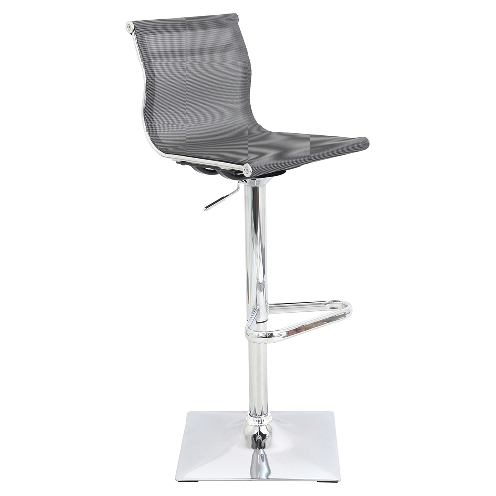 Mirage Height Adjustable Barstool Swivel Silver Dcg Stores