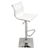 Mirage Height Adjustable Barstool - Swivel, White - LMS-BS-TW-MIRAGE-W