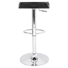 Surf Height Adjustable Barstool - Swivel, Black - LMS-BS-TW-SURF-BK