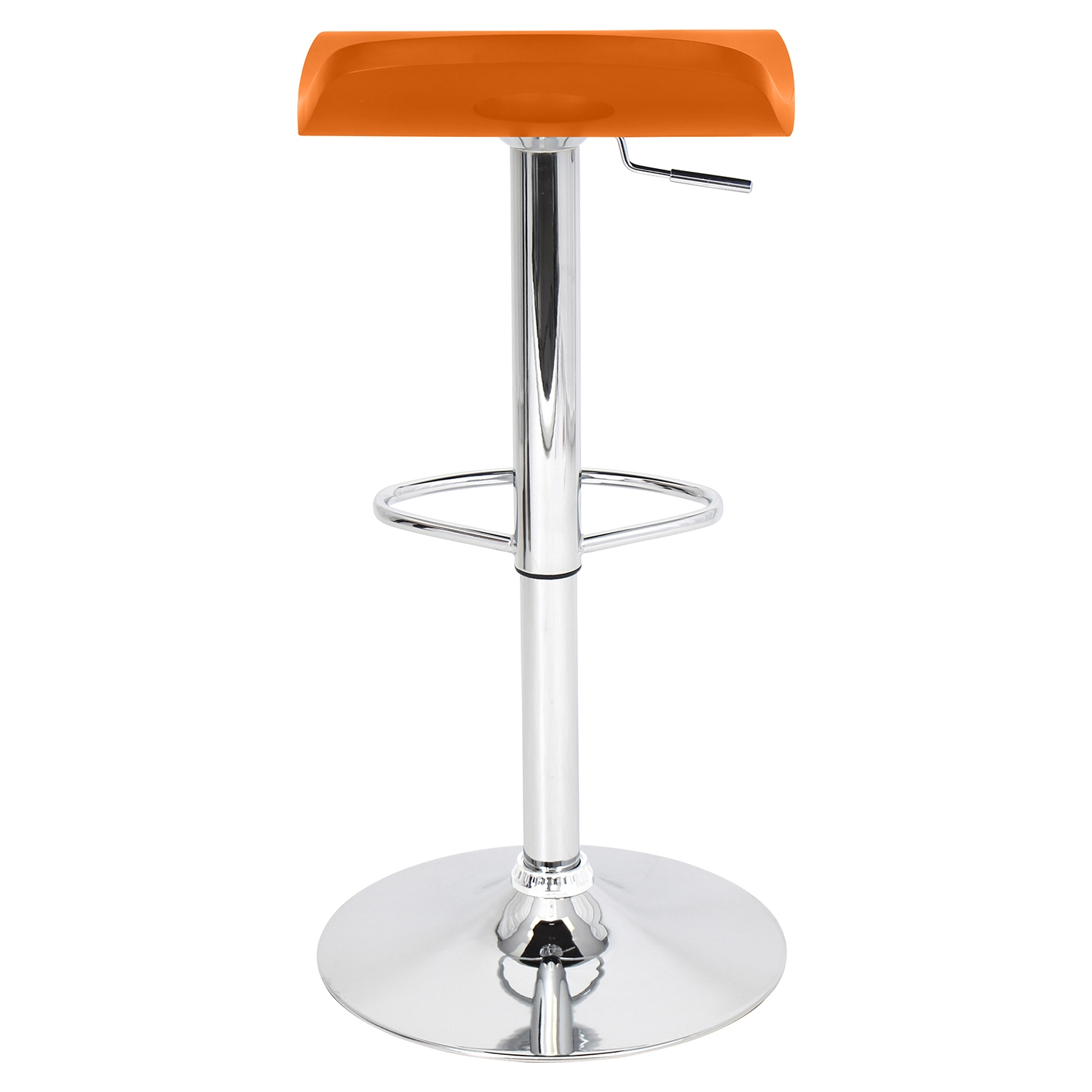 Surf Height Adjustable Barstool - Swivel, Orange - LMS-BS-TW-SURF-O