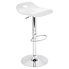 Surf Height Adjustable Barstool - Swivel, White - LMS-BS-TW-SURF-W