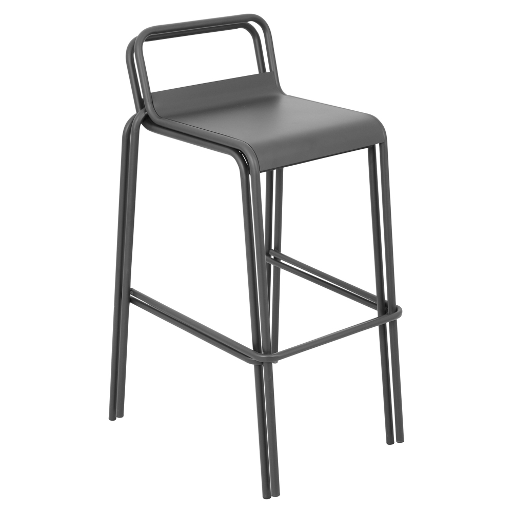 Victor Stackable Barstool Gray Set Of 2 Dcg Stores