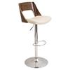 Tremendous Valencia Height Adjustable Barstool Swivel Walnut Cream Uwap Interior Chair Design Uwaporg