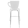 Cafe Chai Stackable Barstool - White (Set of 3) - LMS-BS-ZS-CFCH-W3