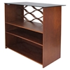 Wave Bar Table - Walnut, Clear - LMS-BT-SW-WAVE