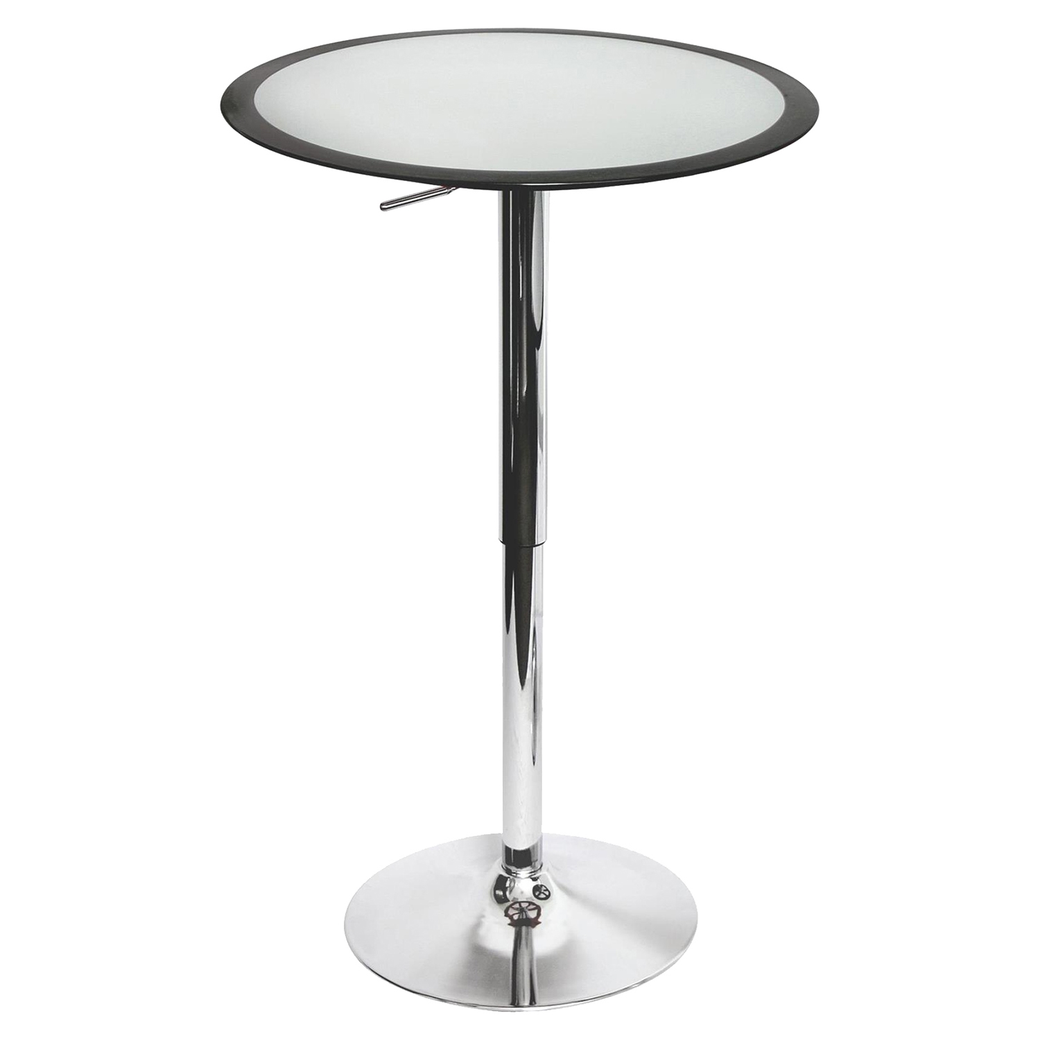 Ribbon Height Adjustable Bar Table   Silver, Black