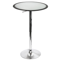 Ribbon Height Adjustable Bar Table - Silver, Black