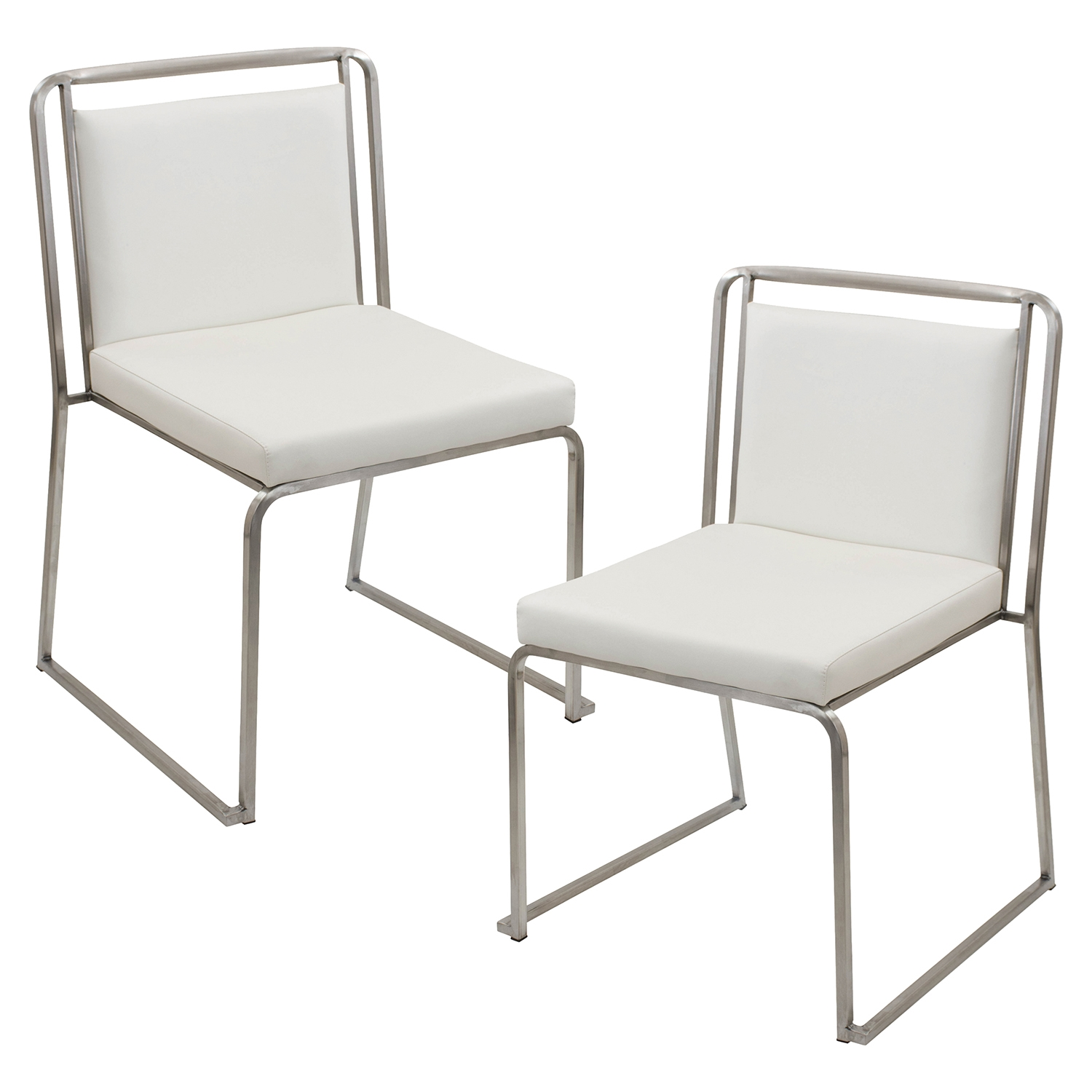 Cascade Stackable Dining Chair - White (Set of 2) - LMS-CH-CASC-W2