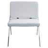 Lambda Accent Chair - Chrome, White - LMS-CH-LAMDA-W