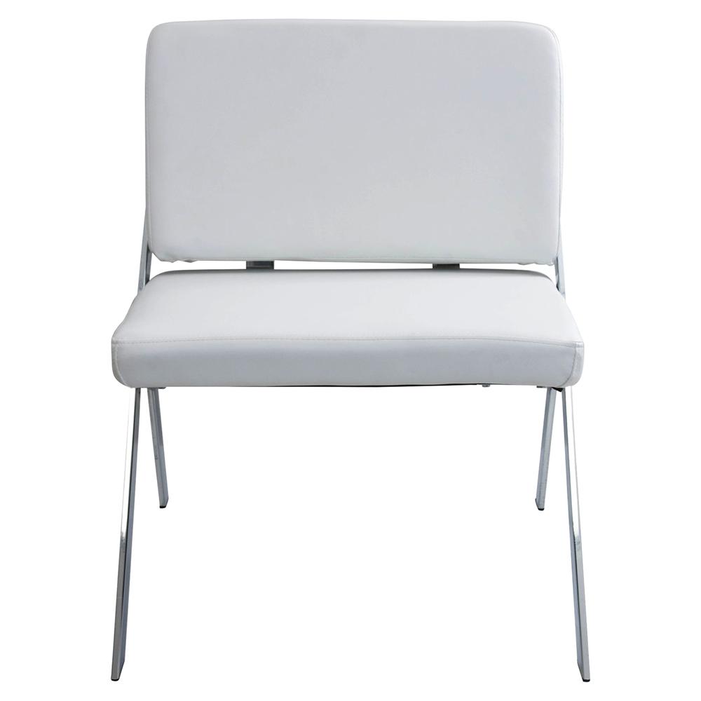 Lambda Accent Chair Chrome White Dcg Stores
