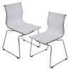 Mirage Stackable Dining Chair - White (Set of 2) - LMS-CH-MIRAGE-W2