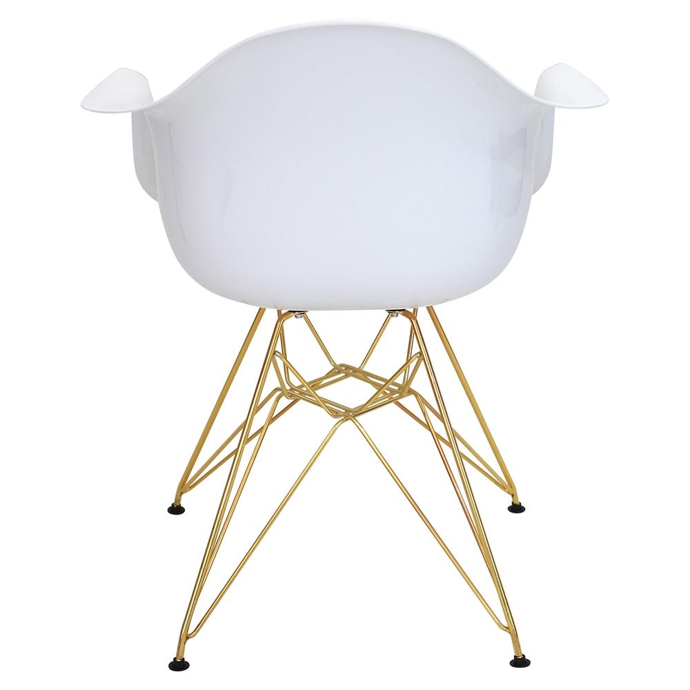 Neo Flair Chair - White, Gold