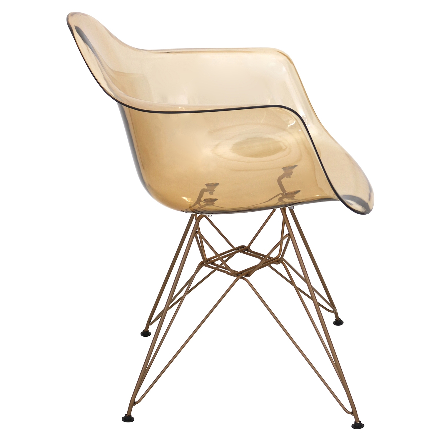 Neo Flair Chair - Amber, Copper - LMS-CH-NFLPC-AM-CU