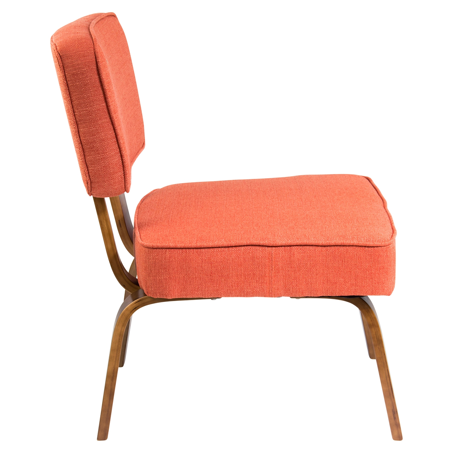 Nunzio Accent Chair - Deep Orange - LMS-CH-NNZ-O