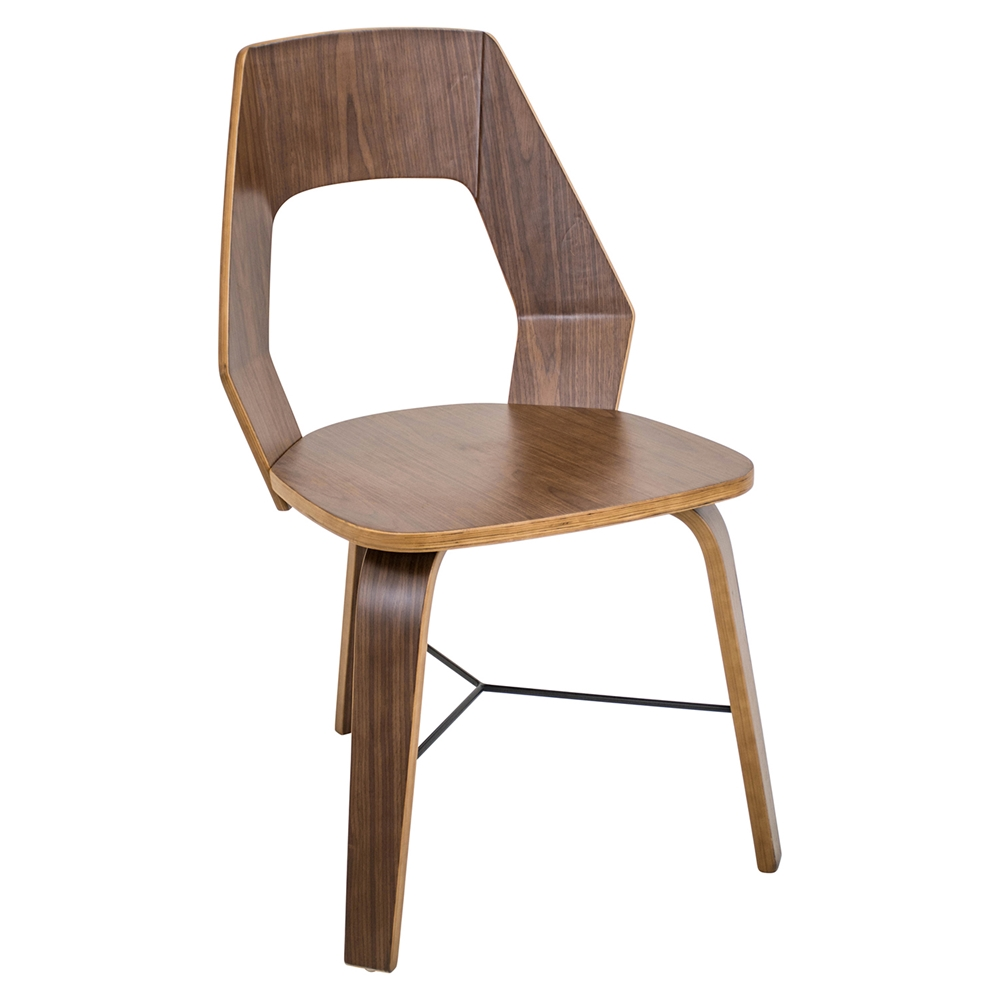 Trilogy Wood Dining Chair Walnut Set Of 2 Dcg Stores