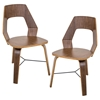 Trilogy Wood Dining Chair - Walnut (Set of 2) - LMS-CH-TRILO-A2-WL