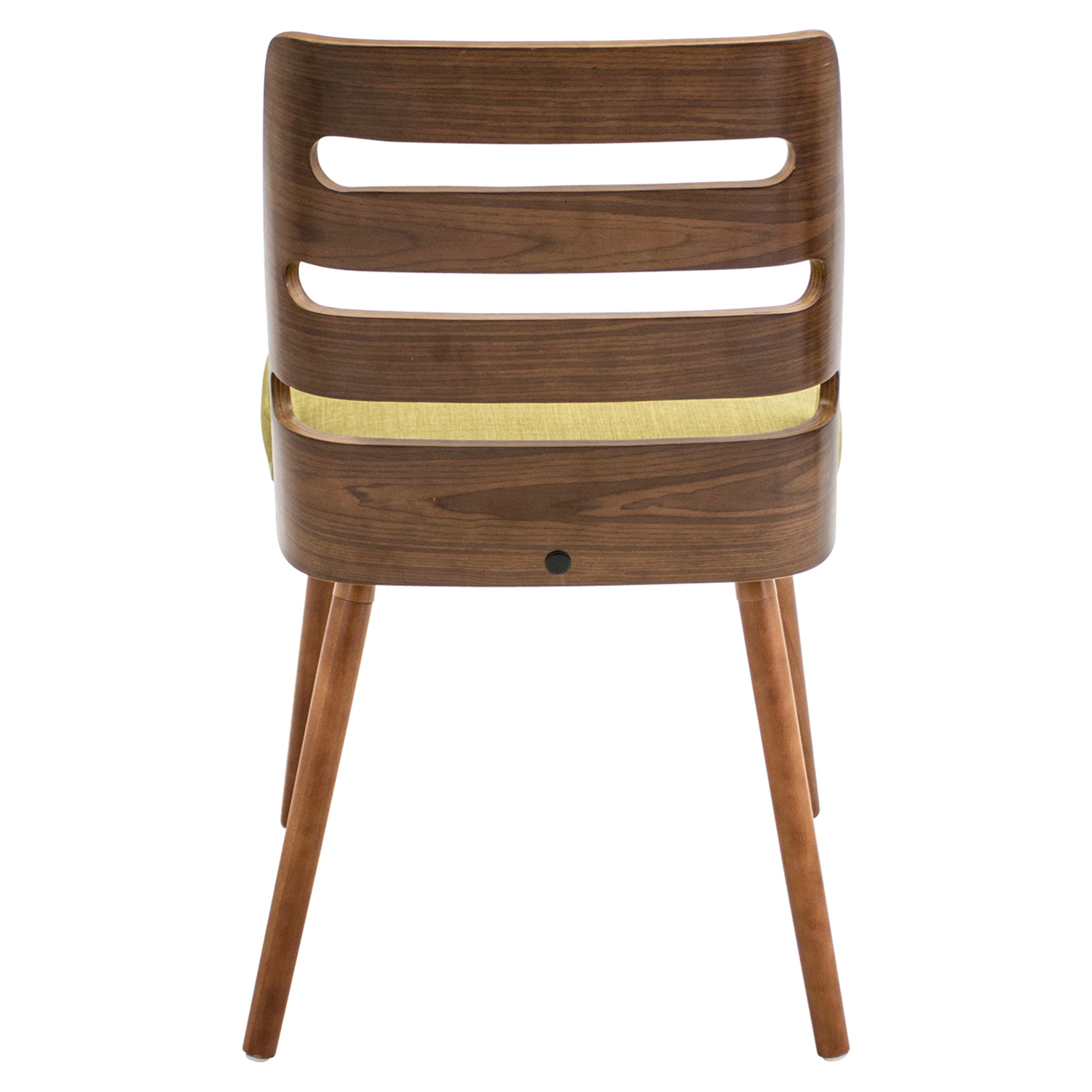 Trevi Dining Chair - Walnut, Green - LMS-CH-TRV-WL-GN