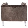 Valentina Tufted Upholstery Armchair - Brown - LMS-CH-VALTINA-BN