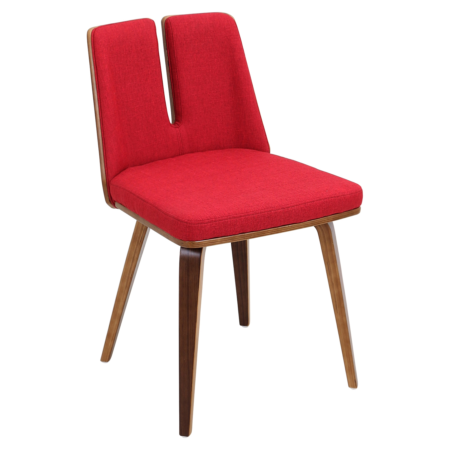 Varzi Dining Chair Walnut Red Dcg Stores